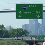 highway sign for 94E